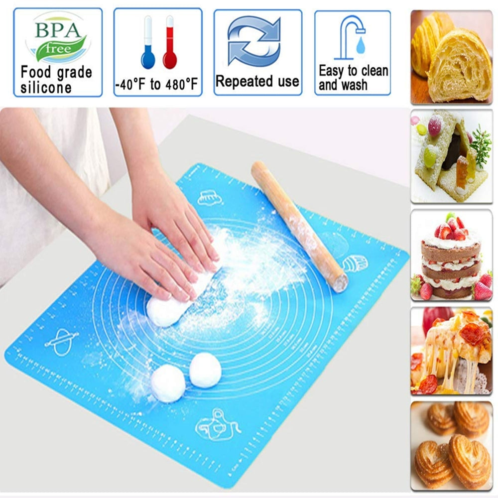 Silicon Baking & Pastry Mat for Dough & Roti Rolling 15 x 19 inches - Multicolor - 2477 Alhamra ALHAMRA
