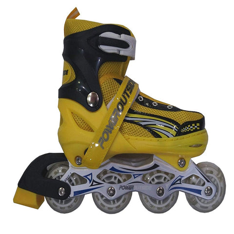 Inline Skate Shoes with Tyre LED lights - Yellow Alhamra ALHAMRA