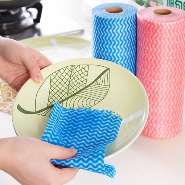 Reusable Kitchen Paper Cleaning Tissue Sheets Roll