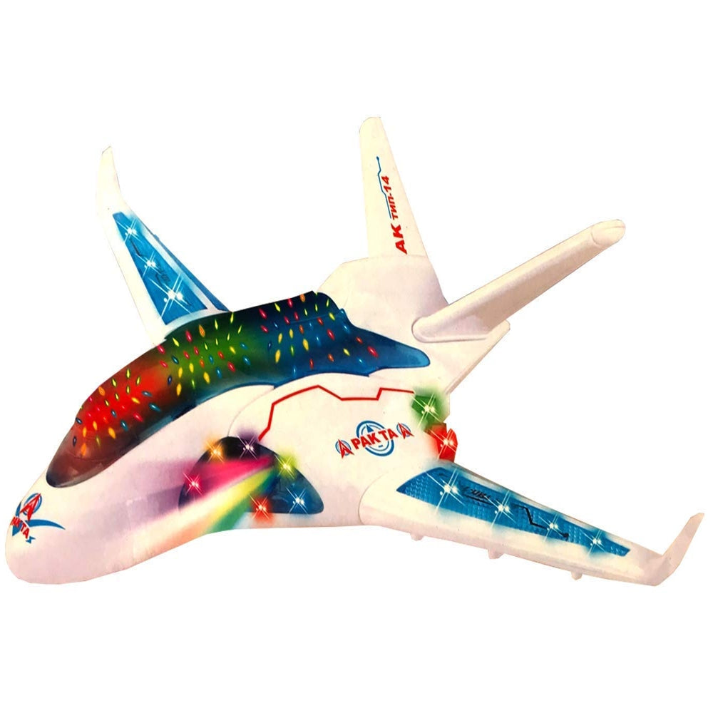 3D Light Flash Plane | Bump & Go with Sound and LED Light | Gift Toy for Kids - 5018 AL Hamra ALHAMRA