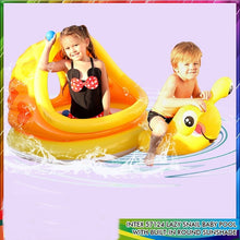Load image into Gallery viewer, Two Eyes Snail Shade Baby Pool with Free Pump - Yellow