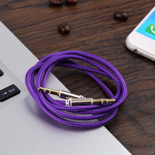 Load image into Gallery viewer, Auxiliary Audio Aux Cable Nylon Braided Unbreakable Cord for Car/Home - 3 Feet - Purple - 3914 Alhamra ALHAMRA