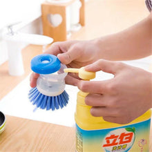 Load image into Gallery viewer, Plastic Cleaning Brush with Liquid Soap Dispenser