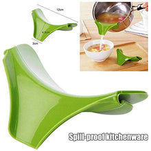 Load image into Gallery viewer, Silicone Colanders Kitchen Clip on Pot Strainer Drainer Funnel