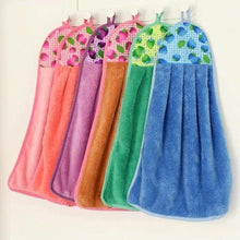 Load image into Gallery viewer, Pack of 3 - Coral Fleece Kitchen / Bathroom Hanging Towel - 15 x 8 inches - Multicolor - 2488 Alhamra ALHAMRA