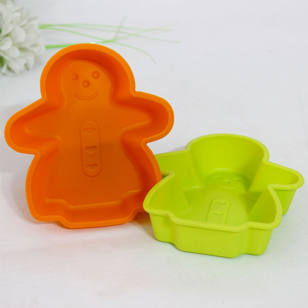 Pack of 2 - Silicone Bake Cookie Man