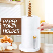 Bamboo Paper Towel Holder Dispenser Organizing Stand