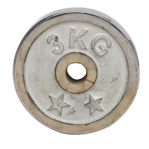 Weight Metal Plate - 3KG - Silver-Mixed-Alhamra-8155-3KG-ALHAMRA