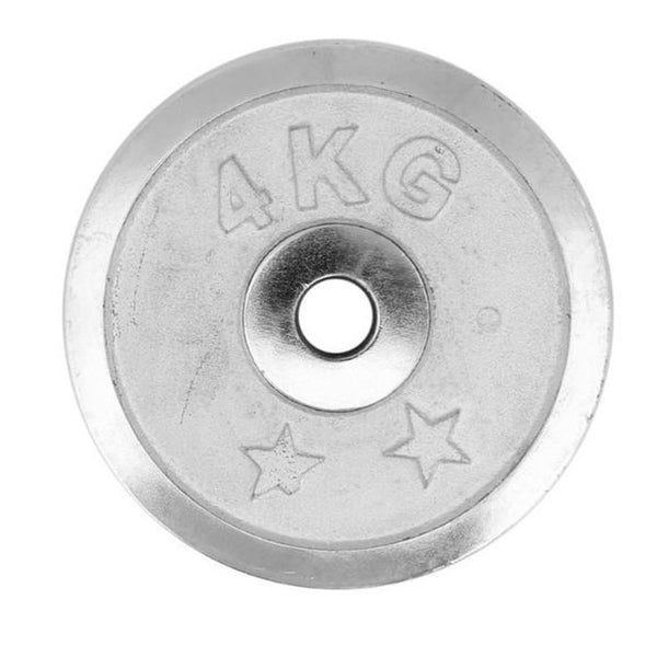 Weight Metal Plate - 4 KG - Silver-Mixed-Alhamra-8155-4KG-ALHAMRA