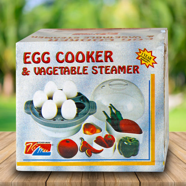 3 in 1 Electric Egg Boiler/Poacher/Cooker Vegetable Streamer-Red Alhamra ALHAMRA