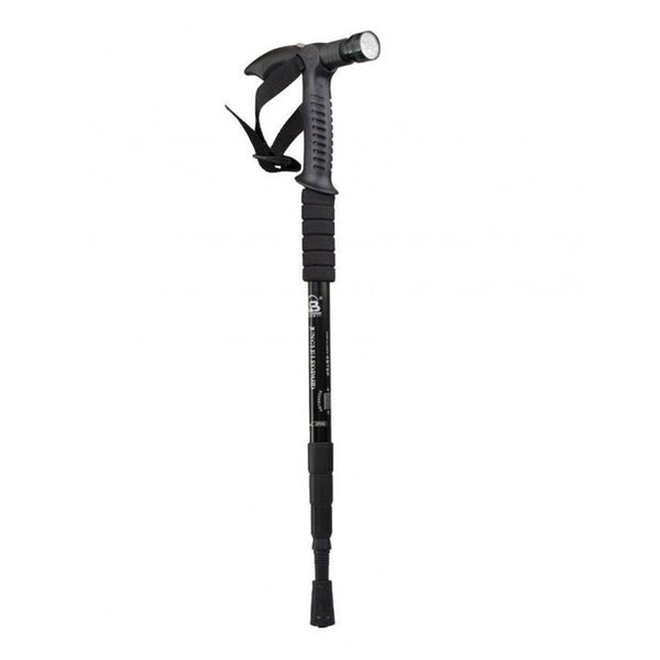 Hiking Walking Stick with Torch-Black-Mixed-Alhamra-8138-B-ALHAMRA