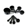 Pack of 8 - Non Stick Measuring Spoon - Black-Plastic-Alhamra-7027-ALHAMRA