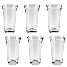Load image into Gallery viewer, Pack of 6 Stylish ZamZam Glass for Hajj Aab e ZamZam / Kehva Glass Set / Kaveh Glassware / Sheesha Glass Set - Transparent ALHAMRA ALHAMRA