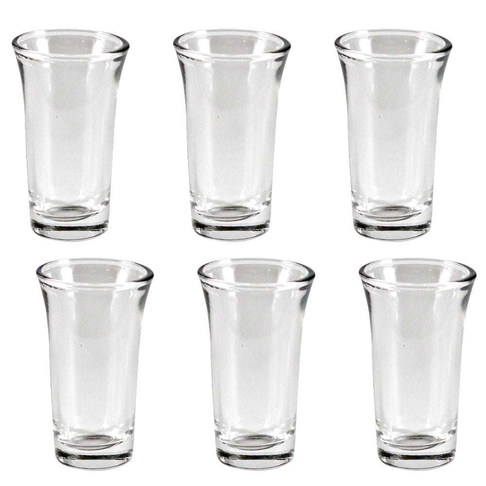 Pack of 6 Stylish ZamZam Glass for Hajj Aab e ZamZam / Kehva Glass Set / Kaveh Glassware / Sheesha Glass Set - Transparent ALHAMRA ALHAMRA