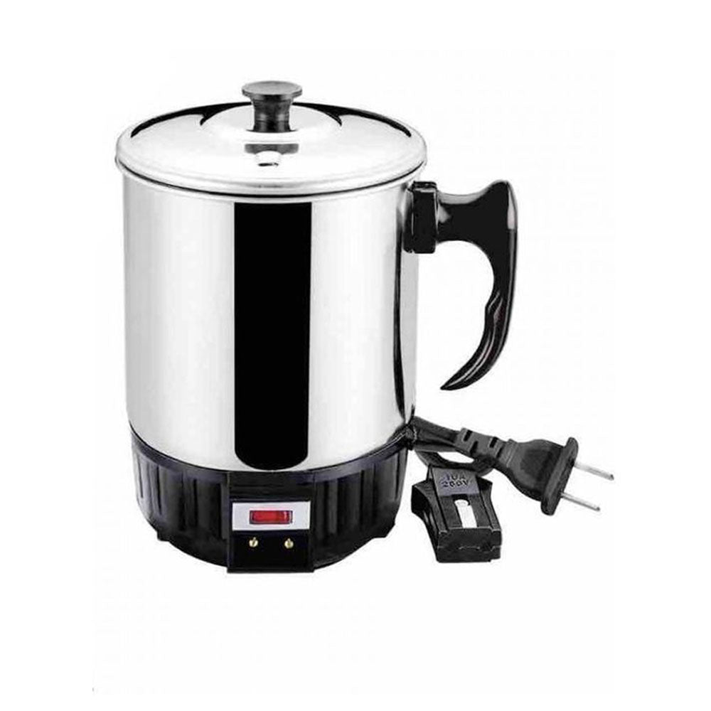 Electric Tea Kettle - Black & Silver-Stainless Steel-Alhamra-7038-S-ALHAMRA