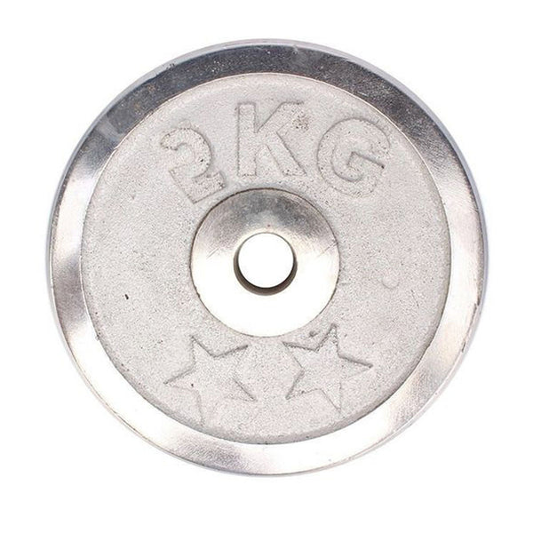 Weight Metal Plate - 2KG - Silver-Mixed-Alhamra-8155-2-kg-ALHAMRA