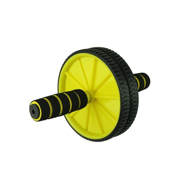 Exercise Wheels - Black & Yellow-Plastic-Alhamra-8125-ALHAMRA