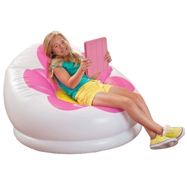 Inflatable Blossom Chair With Air Pump - Pink-Plastic-Alhamra-074-SP-ALHAMRA