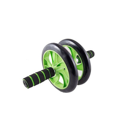Double wheeler Exercise wheel - Green & Black Alhamra ALHAMRA