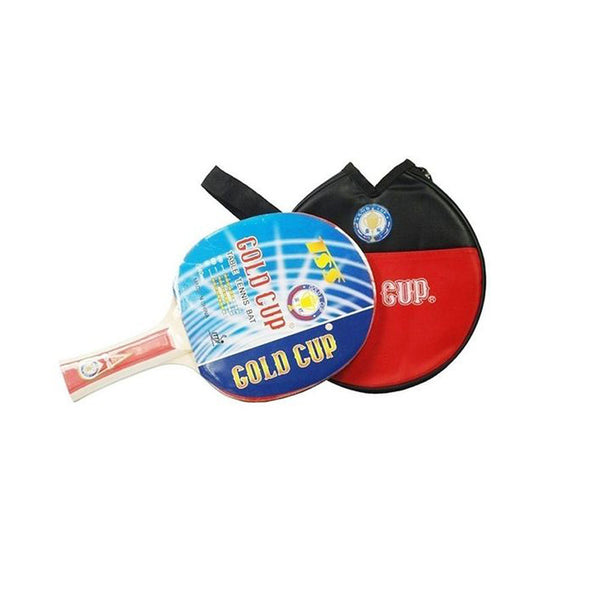 Gold Cup Table Tennis Racket - Black & Red-Iron-Alhamra-8001-ALHAMRA
