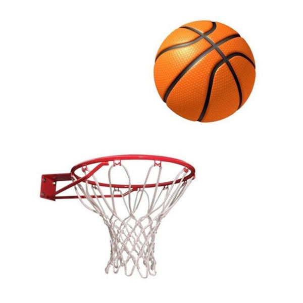 Pack of 2 - Skratch Basket Ball With Net - Orange & White-Mixed-Alhamra-8200-ALHAMRA