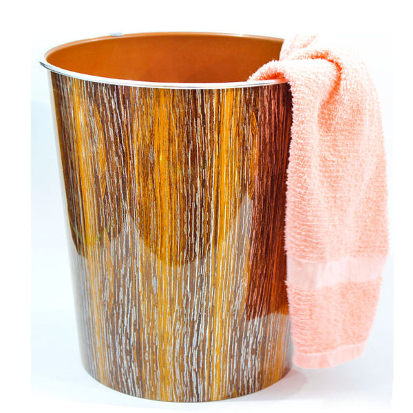Multipurpose Room Basket - Bamboo Texture Bin & Basket - Brown-Wooden-a-108-A-ALHAMRA