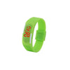LED Silicon Sports watch for unisex-Green-Plastic-Alhamra-8258-G-ALHAMRA