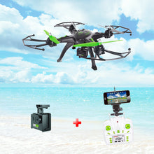 Load image into Gallery viewer, 6 Axis HD Aerial Quadcopter Drone with WIFI & Mobile connectivity -Black & Green-Plastic-ALHAMRA-092-LH-X14-WF-ALHAMRA
