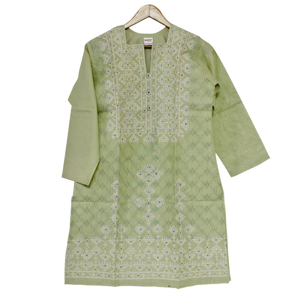 ALHAMRA - Stitched - Embroided Cotton   Shirt / Kurti - Free Size