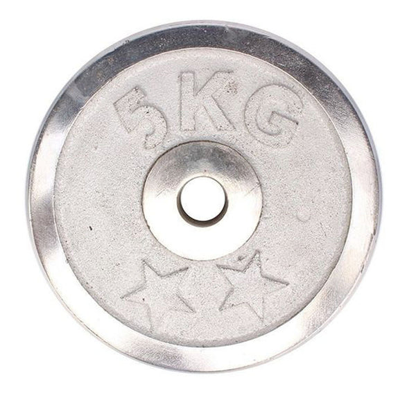 Weight Metal Plate - 5 KG - Silver-Mixed-Alhamra-8155-5KG-ALHAMRA