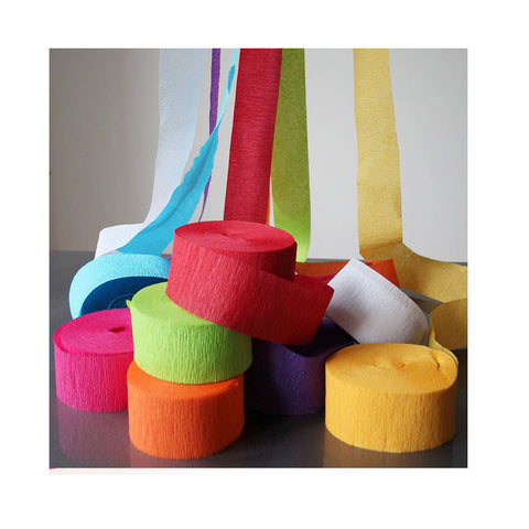Pack of 6-Crepe Streamer-Multicolour 1.75x970 inches-Mixed-Alhamra-4027-ALHAMRA