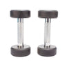 Pair of 3 Kg rubber coated dumbbells - Black & Silver-Mixed-Alhamra-8084-P3-ALHAMRA