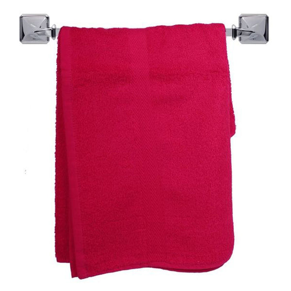 Cotton Bath Towels -60X100 Red-Fabric-Alhamra-80007-SR-ALHAMRA