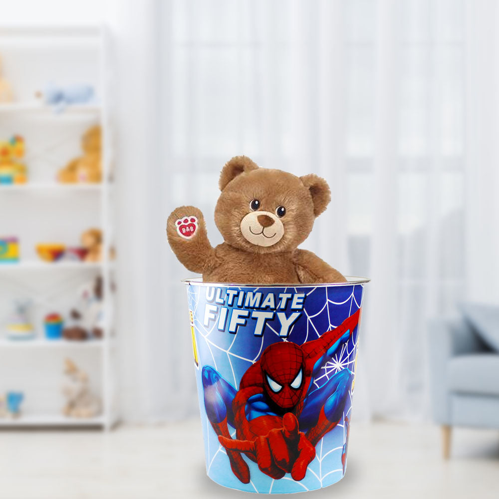 Multipurpose Kids Room Basket with favorite Spider-man Character Printing Toy Basket- Blue Alhamra ALHAMRA