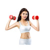 Pair of Vinyl Neoprene Coated Dumbbells - Red-Mixed-Alhamra-ALHAMRA