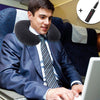 Travel Pillow Neck Rest & Neck Rest Cushion with Free Air Pump - Grey-Plastic-Alhamra-088-ALHAMRA