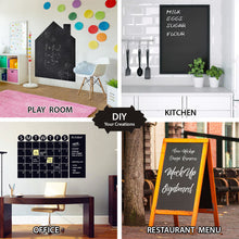 Load image into Gallery viewer, Black Matte Adhesive Chalkboard Contact Paper Vinyl Wall Decal Poster Alternative Bonus Chalks & Marker-Peel & Stick DIY Size 122 x 45 cm-4032 Alhamra ALHAMRA