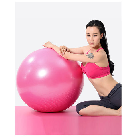 Anti-Burst Maternity Pregnancy Birthing Birth Ball Gym Balls - Pink-Plastic-Alhamra-8002-SP-ALHAMRA