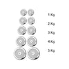 Set of 12 - 1 ft Dumbbells Rod and 30 KG Chrome Plates Complete Home Gym Set ALHAMRA ALHAMRA