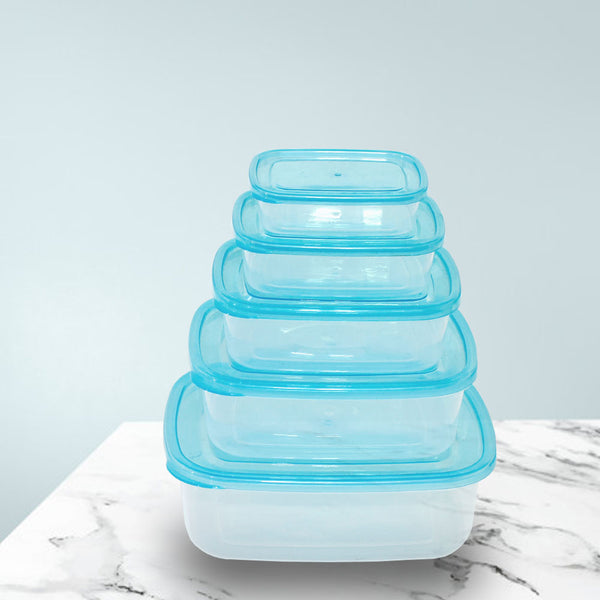 Pack of 5 - Food Containers Plastic Boxes