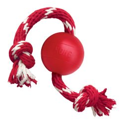KONG Ball with Rope Small