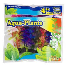 "Aqua Plants Coloured Plant 6pk, 4""SML"