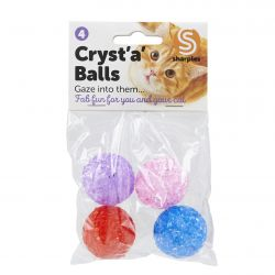 Cryst 'A' Balls Cat Toy, 4'S