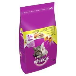 Whiskas 1+ Cat Complete Dry with Chicken, 7KG