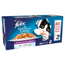 Felix Pouch As Good As It looks Mixed Selection in Jelly 40 pack, 100G