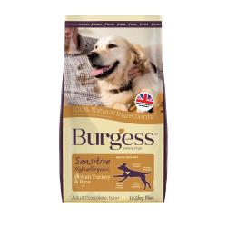 Burgess Sensitive Adult Dog Turkey & Rice, 12.5KG