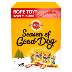 Pedigree Christmas Gift Box Dog Treats with Rope Toy, 532G