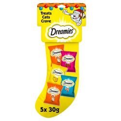Dreamies Christmas Gift Cat Treat Stocking, 150G