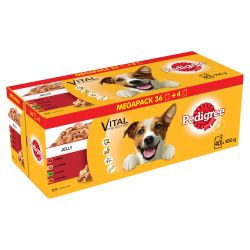 Pedigree Dog Pouches Mixed Selection in Jelly 40 for 36 Mega Pack, 100G