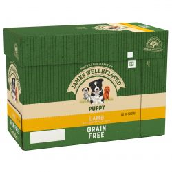 JAMES WELLBELOVED Grain Free Lamb Pouch Puppy 12x100g, 100G